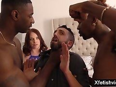 Brutal Interracial Cuckold